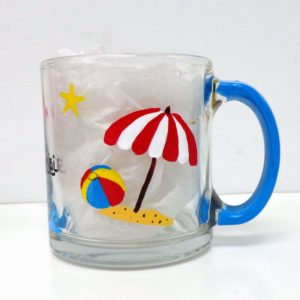 Beach Coffee Mug Glass