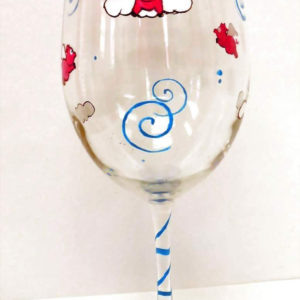 Flying Pig Wine Glass