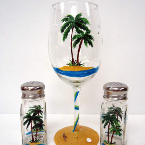 Palm Tree Wine Glass Set