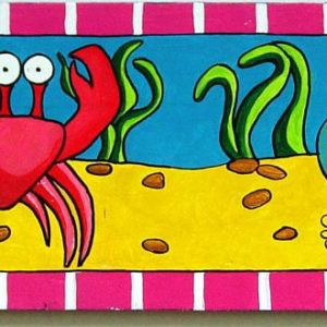 octopus crab fish seahorse Painting