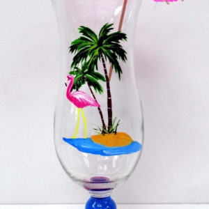 Flamingo Pina Colada Glass